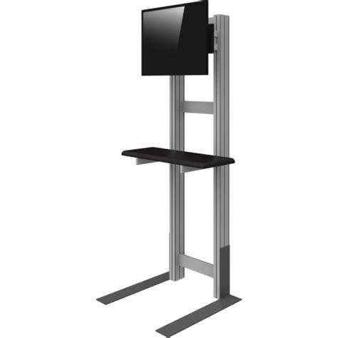 1380mm (54.3″)h x 390mm (15.3″)w x 395mm (15.5″)d • weight: Freestanding Monitor Kiosk