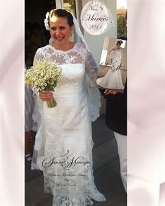 Robe Mariage Dentelle : robes de mariee sur mesure en dentelle et manches sunny ~ Mglfilm.com Idées de Décoration