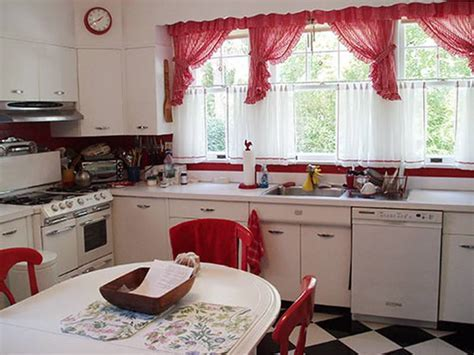 7 Inspirational Themes For Red Kitchen Curtains   Interior