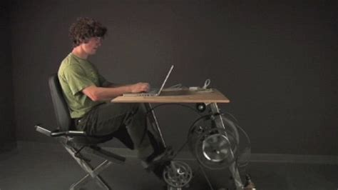 Staionary Bike Stand by The Exercise Bike Office Desk Generates Enough Electricity