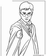 Potter Harry Coloring Wand Pages Holding Magic Printable Drawing Adults Magician Getdrawings sketch template