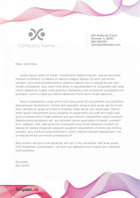 letterhead templates examples company