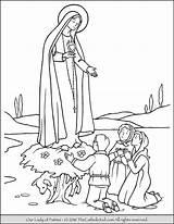 Coloring Fatima Lady Catholic Heaven Crafts sketch template