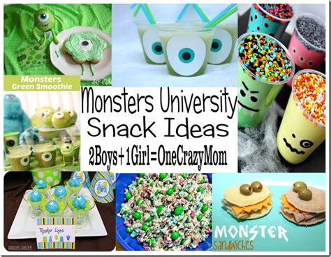 Our Favorite Pinterest Profiles For Decorating Ideas: Our Favorite Snack Ideas For Your #MonstersUniversity Fan