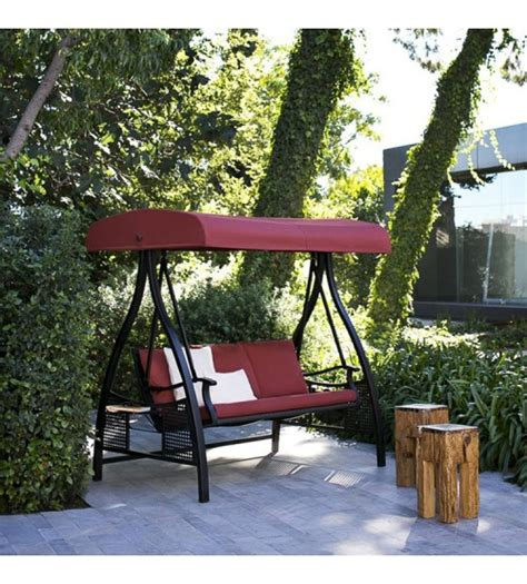 abba patio 3 seat outdoor porch polyester canopy swing