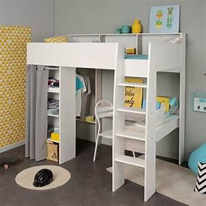 Lit Mezzanine Dressing : 10 lits enfants en mezzanine pour s 39 inspirer blog but ~ Dode.kayakingforconservation.com Idées de Décoration