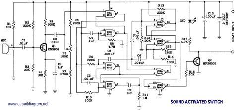 Sound Activated Switch Schematic Design