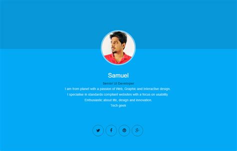 vcard template free vcard resume html5 website template free