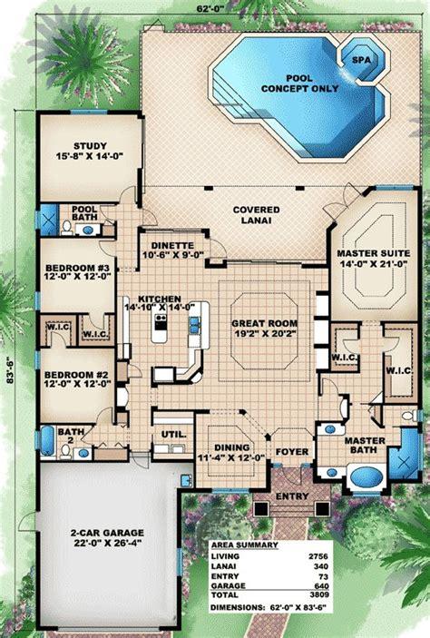 home design florida plan 66283we great family home plan 3 car garage