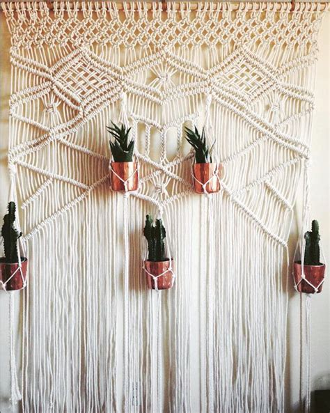 Backdrop Wall Hanging by Macrame Wedding Backdrop Macrame Wall Hanging