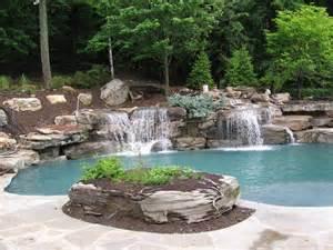Natural Waterfall Swimming Pool Boulder