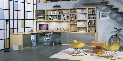 customized office storage encourages organization and
