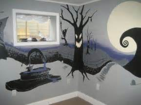 nightmare before christmas bedroom mural bedrooms pinterest