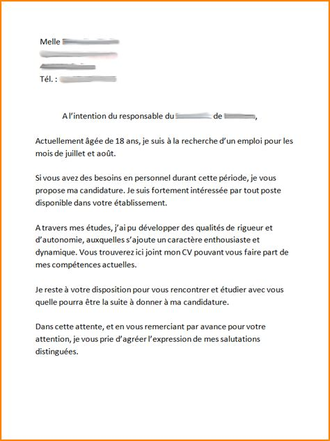 Cv Travail by Cv Etudiant Travail Saisonnier