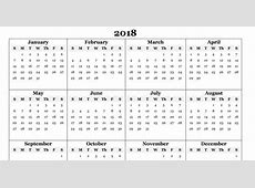 Free 2018 Yearly Calendar – PDF Word Excel Templates