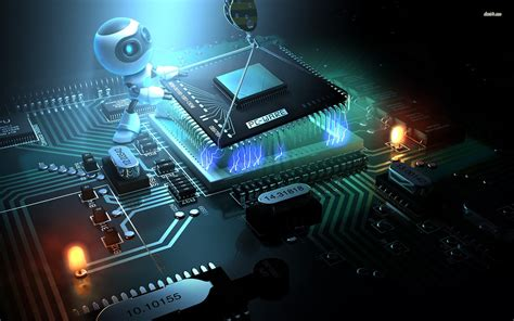 computer chip robot hd wallpapers