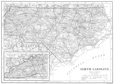 north carolina north carolina state map showing counties