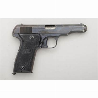 Mab Pistol French Cal 65mm Barrel Checkered