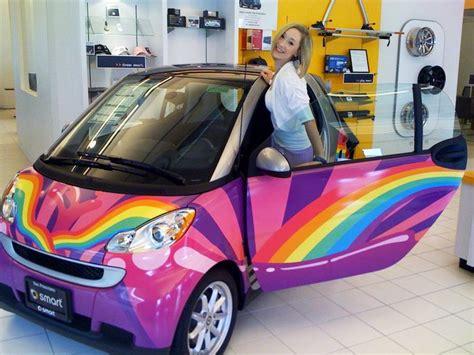 rainbow cars rainbow smart car my favorite car pinterest cars