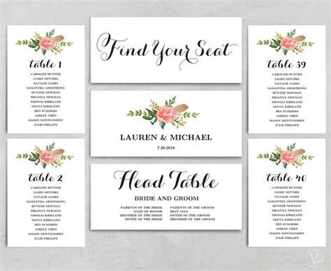 Wedding Seating Chart Template Printable Wedding Seating Chart Wedding Seating Chart
