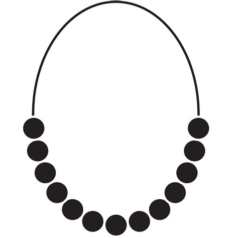pearl necklace clipart black and white necklace clipart outline pencil and in color necklace