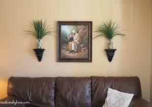 livingroom wall diy decorating living room table creations by kara