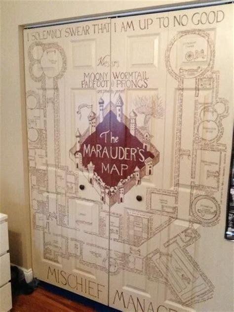 marauders map closet door geekery pinterest awesome