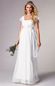 Florence maternity wedding gown long ivory maternity for Maternity dresses for wedding