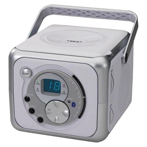 desk radio cd player jensen portable bluetooth music system with cd player