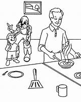 Coloring Pages Maddie Cooking Kitchen Father Liv Omelet Omelette Printable Sketch Template Getcolorings sketch template