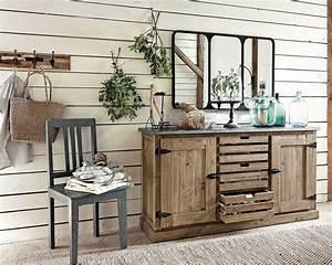 buffet en bois recycle pagnol buffet maisons du monde With buffet maison du monde