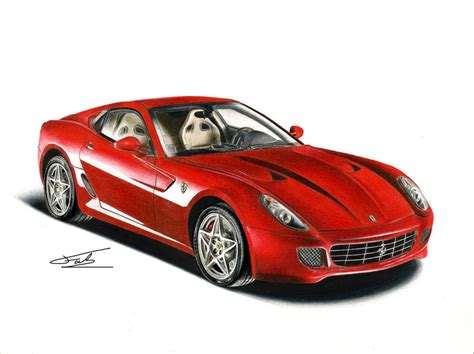ferrari drawing ferrari 599 gtb drawing by xeonos on deviantart