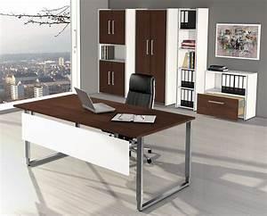 Büromöbel Aus Holz : robuste b rom bel aus holz wei wenge dekor und edelstahl ~ Indierocktalk.com Haus und Dekorationen