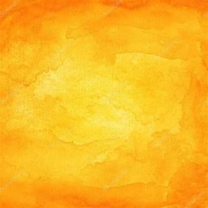 Watercolor texture orange background. — Stock Photo ...