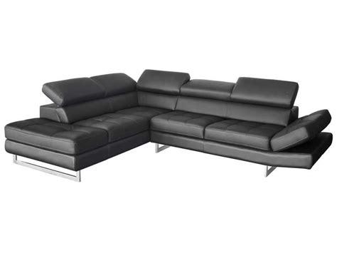 canapé angle simili cuir canapé d 39 angle fixe gauche 5 places en cuir leman coloris anthracite vente de canapé d 39 angle