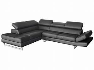 canape d39angle fixe gauche 5 places en cuir leman coloris With tapis oriental avec entretien canapé en cuir