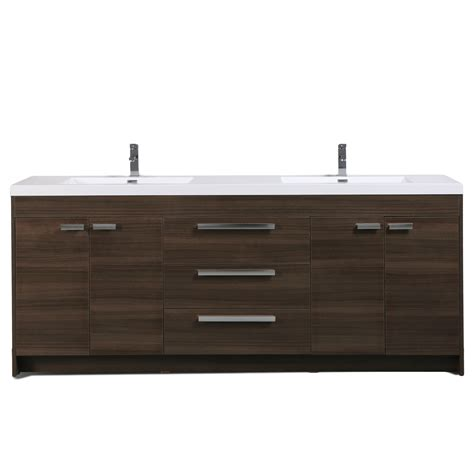 grey bathroom cabinets eviva lugano 84 quot grey oak modern bathroom vanity with 13028