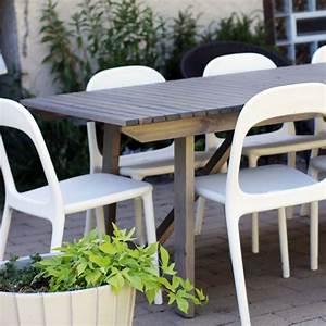 Table Terrasse Ikea : ikea sunder gray wood outdoor dining table rosemary ~ Teatrodelosmanantiales.com Idées de Décoration
