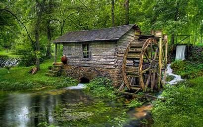 Water Mill Wallpapers Desktop Wooden Wheel Waterwheel