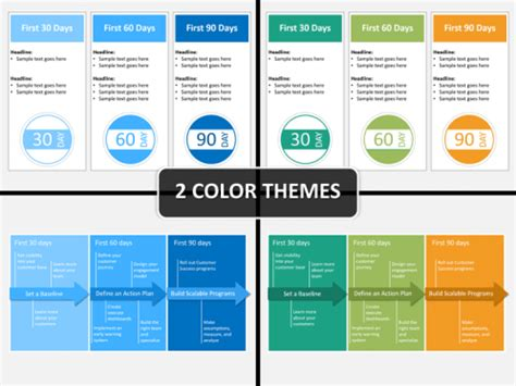 90 Days Template by 30 60 90 Day Plan Powerpoint Template Sketchbubble