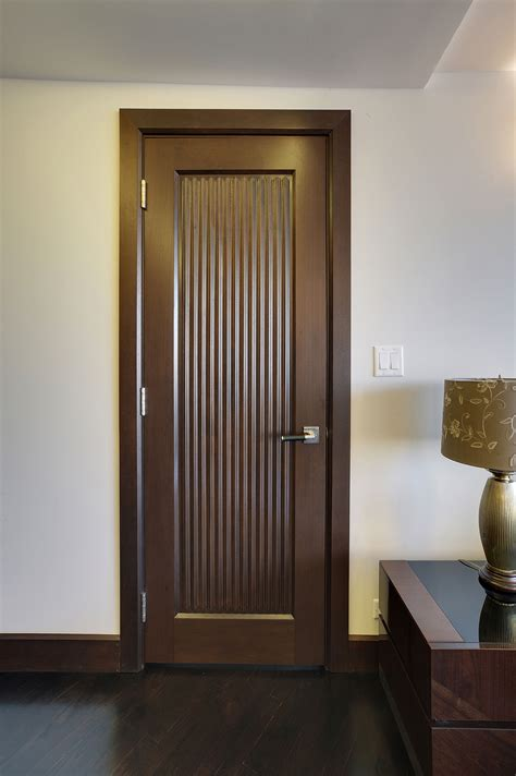 Interior Door - Custom - Single - Solid Wood with Walnut ...