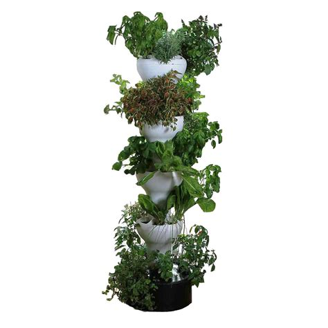 Vertical Hydroponic Garden by Foody 8 Vertical Hydroponic Garden Tower The Green
