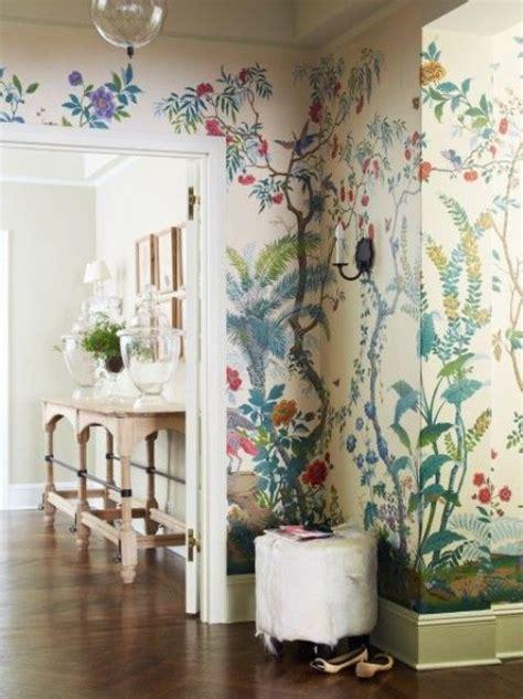 decorating  botanical wallpaper  beautiful ideas
