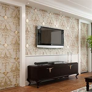 Wallpaper 3D Embossed Non woven Wallpapers Luxury European ...