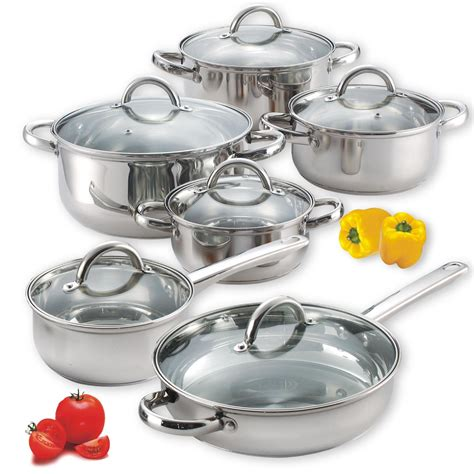 steel stainless cook cookware piece