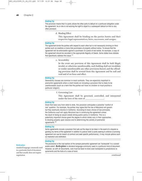 texas prenuptial agreement sample   page