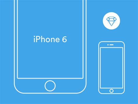 free iphone po iphone 6 wireframe sketch template freebie