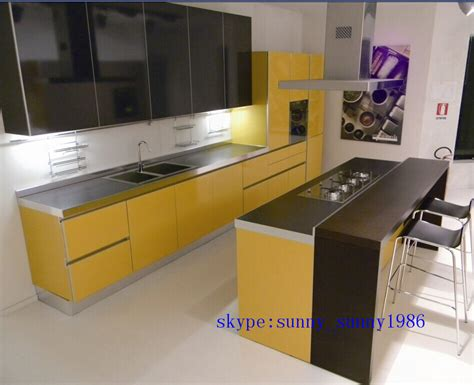 China L Shape Modular Kitchen Cabinet Color Combinations