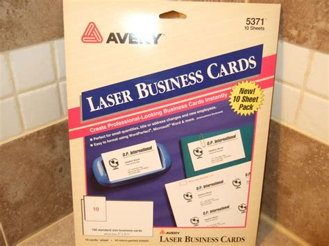 100 Laser Business Cards 2