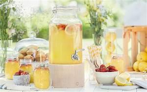 Getränkespender Glas Mit Zapfhahn : glas getr nkespender greta 5 l mit zapfhahn und holzst nder springlane kitchen ~ Markanthonyermac.com Haus und Dekorationen